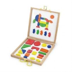 """Набор магнитных блоков """"Формы и цвет"""" Viga Toys 59687"""