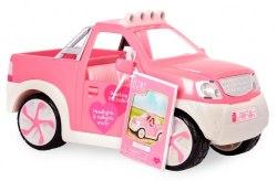 Джип розовый с FM радио и светом, транспорт для кукол Lori LO37033Z