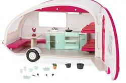 Кемпер на колесах розовый (свет), транспорт для кукол Lori LO37011Z