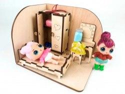 Спальня, комната с меблями, деревянный 3D конструктор Зирка 9786176341642