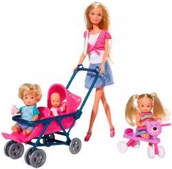 Набор кукол и аксессуаров Штеффи с детьми Steffi & Evi Love 573 6350