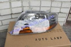 Фара передняя левая на Chevrolet Aveo T200 (2005-2006) темный отражатель