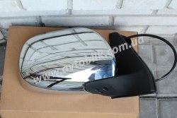 Зеркало левое на Toyota Land Cruiser Prado 120 (2003-2009) хром