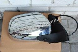 Зеркало левое на Toyota Land Cruiser Prado 120 (2003-2009) хром, автоскладывание