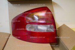 Задний фонарь левый на Audi A6 C5 (1997-2005) красно-белый