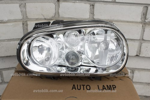 Фара передняя левая на Volkswagen Golf IV (1997-2003) 2 лампочки