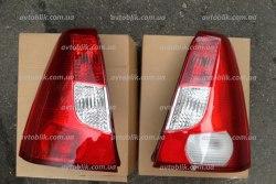 Задний фонарь левый на Dacia Logan (2004-2008) седан (бело-красный)