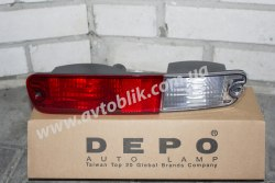Задний фонарь левый в бампер на Mitsubishi Pajero III (2003-2007)