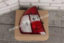 Задний фонарь левый на Renault Symbol, Clio (2002-2008) бело-красный