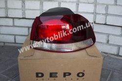 Задний фонарь левый на Volkswagen Golf (2009-2012) хетчбэк