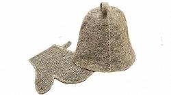 Набор для бани и сауны «Дуэт» (шапка ,рукавица) OBSI 130005