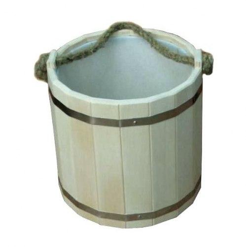 Ведро 10л с пластмассой вставкой ВП-10