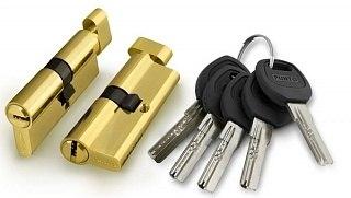 Цилиндровый механизм с перфорированным ключом Lockly Z100P ключ/вертушка