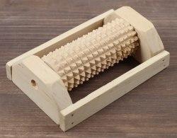 """Массажер деревянный для одной стопы """"Зубчатый"""", 1 валик, бук 2681969"""