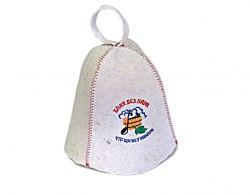 Шапка для бани и сауны с вышивкой SALE Баня без пара что щи без навара OBSI 131029