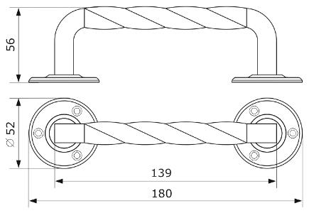 Ручка декоративная ДОМАРТ 5 (180мм)