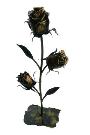 Роза с тремя бутонами на подставке ЗСИ