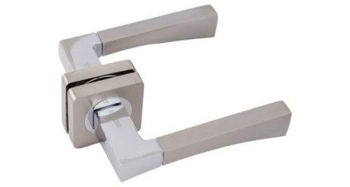 Ручка дверная Onyx Lux Форли SN/CP