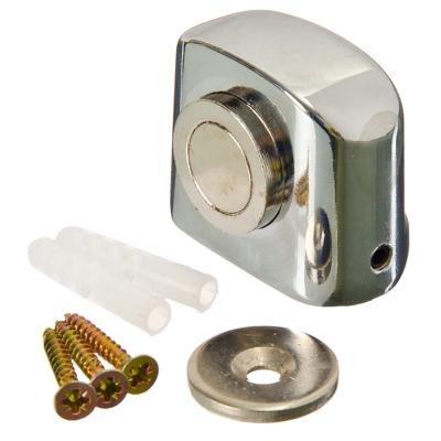 Упор дверной 09 магнитный, 31x37мм, хром, цинк