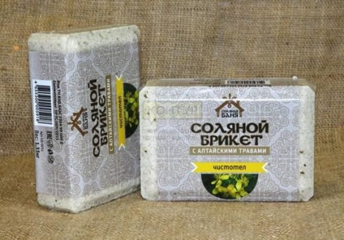 Соляной брикет вес 1,35 кг Соляная баня Чистотел