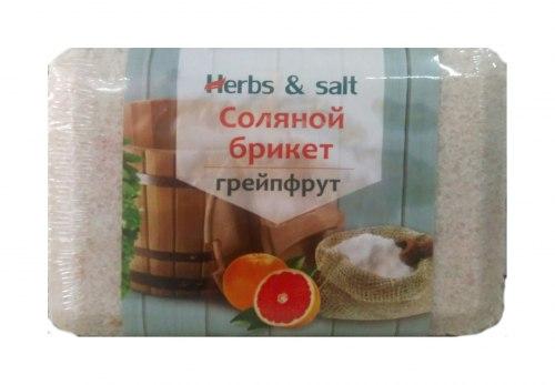 Соляной брикет 1,35кг Salt&Herbs Грейпфрут