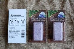 Соляной брикет с эфирным маслом лаванды 0.2кг Соляная баня