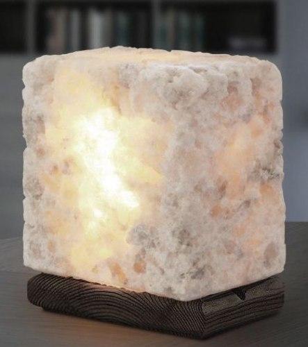 Соляная лампа из Каменной соли 4 кг на деревянной подставке Соляная баня