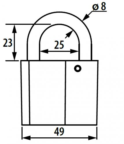 Замок навесной ВС 2-26