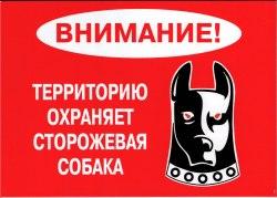 "Табличка А5 пластик ""Осторожно злая собака"" №5"