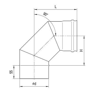 Колено 90гр FERRUM AISI 430/0,5