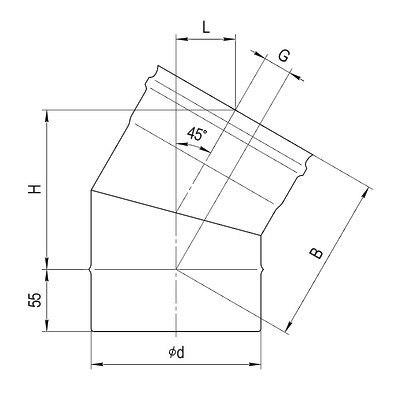 Колено 135гр FERRUM AISI 430/0,8