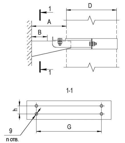 Кронштенй раздвижной FERRUM AISI 430/1,0мм