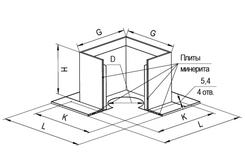Потолочно проходной узел (ППУ) FERRUM с минеритом