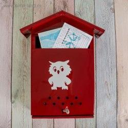 Ящик почтовый Домик с замком цвета в ассортименте