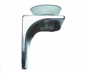 Стеклодержатель угловой с присоской, хром