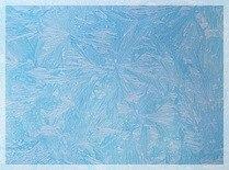 Пленка с/к 0,45х8м (морозный узор голубой) Deluxe 3955-1