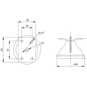Опора мебельная F1050 H50
