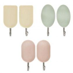 Крючки самоклеящиеся в пакете, 2 шт, 3 цвета, WF-312/2, Веселый роджер 440-302