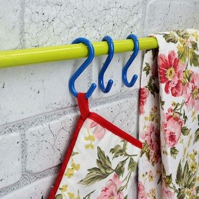 Набор крючков для рейлинга 5 шт, до 0,5кг, 7см, пластик, 4 цвета Веселый роджер 440-348
