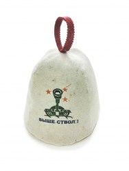 """Шапка для бани и сауны """"Выше ствол"""" OBSI Б411"""
