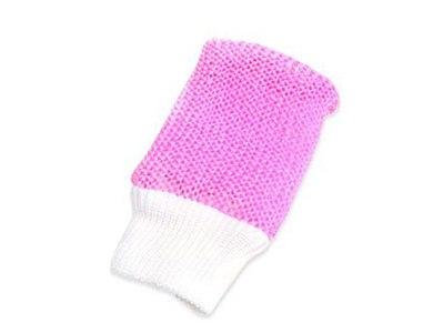 Мочалка вязаная рукавица 26*11см Ева М38