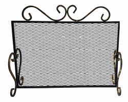 Кованый экран для камина ЗСИ № 2