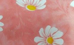 Пленка с/к 0,45х8м (розовая с ромашками) Deluxe 2172