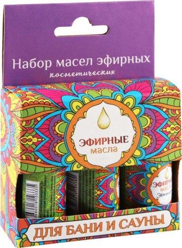 Набор эфирных масел (пихта, мята, апельсин) 3*17мл Eva