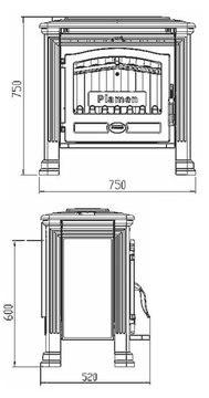 Печь-камин Plamen Tena