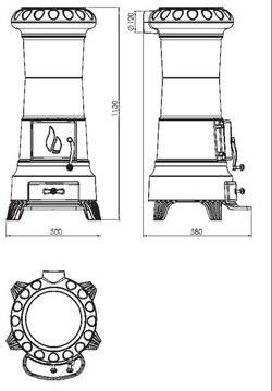 Печь-камин Plamen Julia