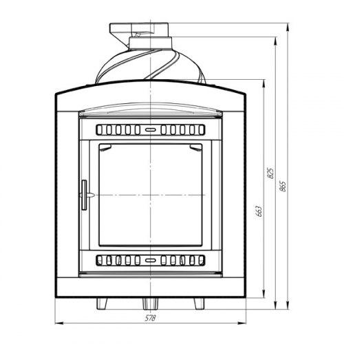 Печь для бани ProMetall Атмосфера (сетка)