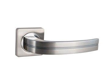 Ручки дверные S-Locked A-106 SN/CP круг