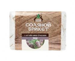 Соляной брикет 1,35кг Salt&Herbs Кедр