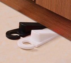 Набор дверных стопперов 2 шт белый/черный 1886176